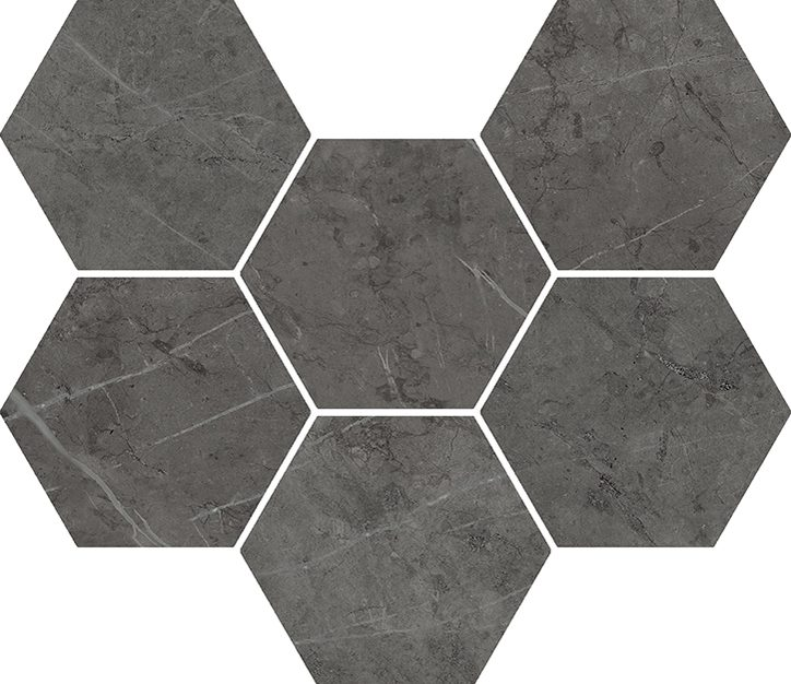 Charme Evo Antracite Mosaico Hexagon 25*29