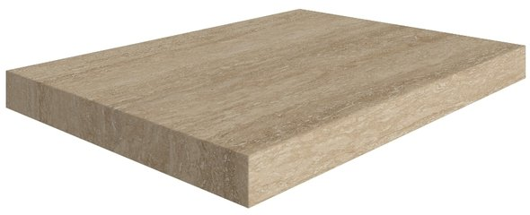 Travertino Floor Scalino Angolare Sinistro Romano 33*60