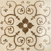 плитка Charme Cream Inserto Bouquet - 60*60, 59*59 мрамор #67626