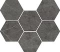 плитка Charme Evo Antracite Mosaico Hexagon - мозаика 25*29 #235012