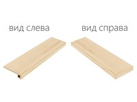 Element Wood Acero Scalino Angolare Destro (Элемент Вуд Ачеро Ступень Угловая Правая)