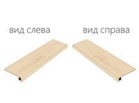 Element Wood Acero Scalino Angolare Sinistro (Элемент Вуд Ачеро Ступень Угловая Левая)