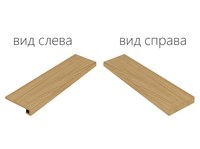 Element Wood Olmo Scalino Angolare Destro (Элемент Вуд Олмо Ступень Угловая Правая)